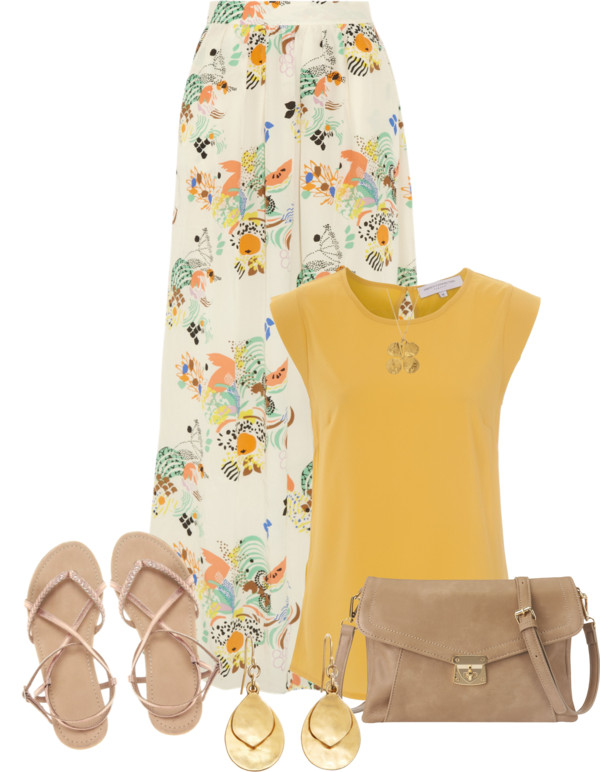 white-maxi-skirt-print-yellow-top-necklace-pend-earrings-tan-bag-tan-shoe-sandals-howtowear-fashion-style-outfit-spring-summer-lunch.jpg