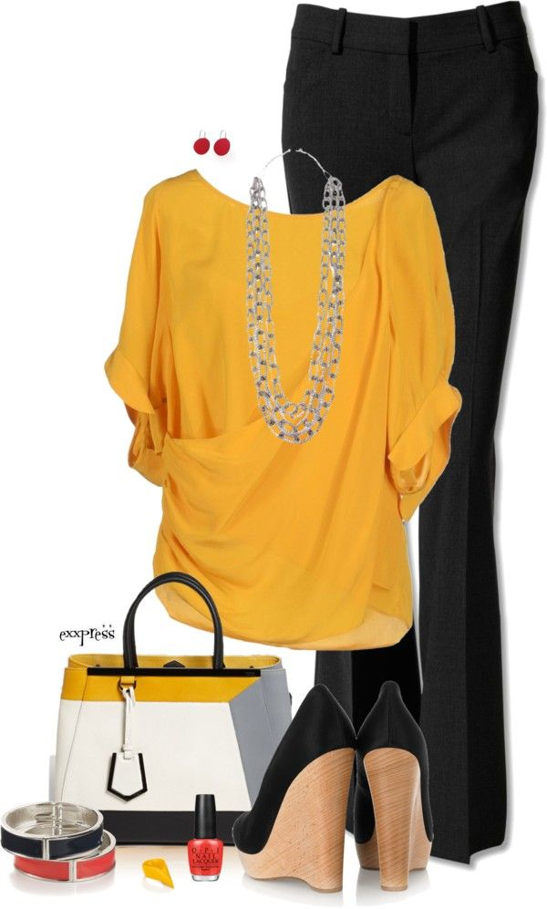 black-wideleg-pants-yellow-top-blouse-necklace-studs-black-shoe-pumps-nail-white-bag-bracelet-howtowear-fashion-style-outfit-spring-summer-work.jpg