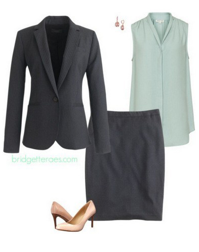 grayd-pencil-skirt-green-light-top-blouse-grayd-jacket-blazer-earrings-tan-shoe-pumps-skirtsuit-howtowear-fashion-style-outfit-spring-summer-work.jpg