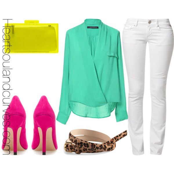 white-skinny-jeans-green-light-top-blouse-yellow-bag-magenta-shoe-pumps-leopard-belt-howtowear-fashion-spring-summer-style-outfit-lunch.jpg