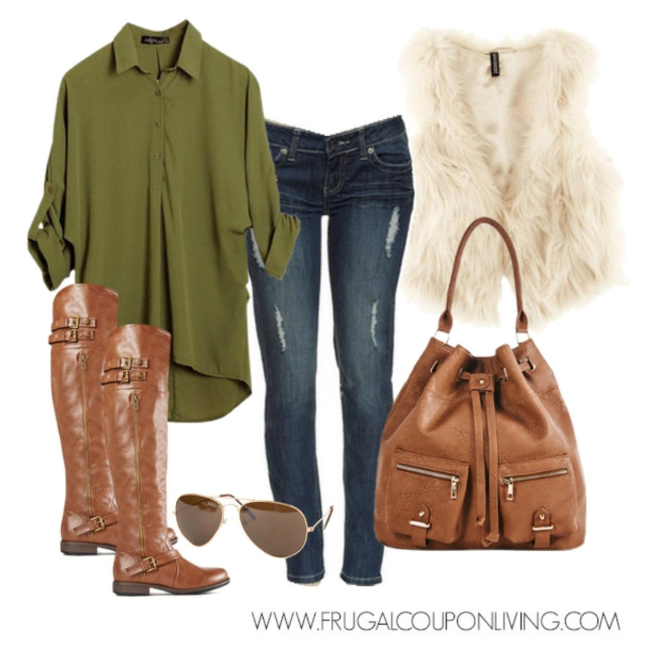 blue-navy-skinny-jeans-green-olive-top-blouse-white-vest-fur-cognac-bag-sun-cognac-shoe-boots-fall-winter-weekend.jpg