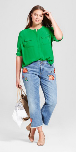 blue-light-crop-jeans-green-emerald-top-blouse-tan-shoe-sandalh-tan-bag-hairr-spring-summer-weekend.jpg