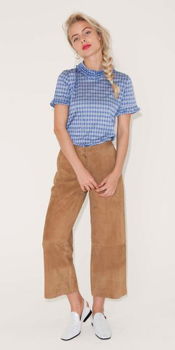 tan-culottes-pants-blue-med-top-blouse-blonde-braid-white-shoe-loafers-spring-summer-weekend.jpg