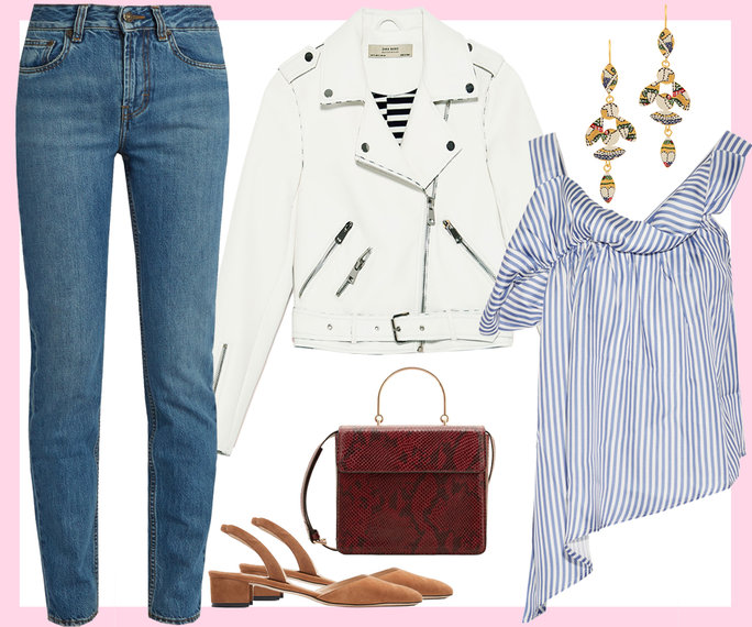 blue-med-skinny-jeans-white-jacket-moto-blue-med-top-stripe-oneshoulder-earrings-burgundy-bag-tan-shoe-flats-howtowear-valentinesday-outfit-fall-winter-lunch.jpg