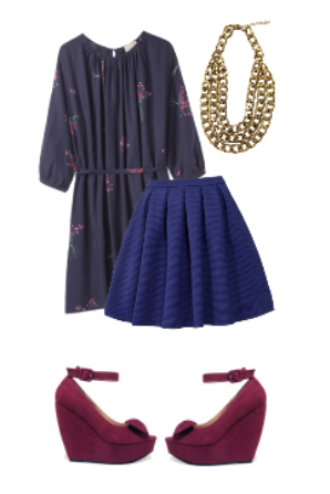 blue-navy-mini-skirt-blue-navy-top-tunic-bib-necklace-wear-style-fashion-fall-winter-cobalt-burgundy-shoe-pumps-wedges-dinner.jpg