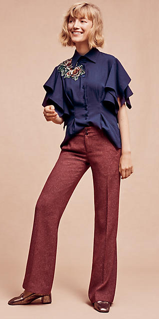 r-burgundy-wideleg-pants-blue-navy-top-tan-shoe-pumps-howtowear-style-fashion-fall-winter-tweed-embroider-anthropologie-blonde-puff-lunch.jpg
