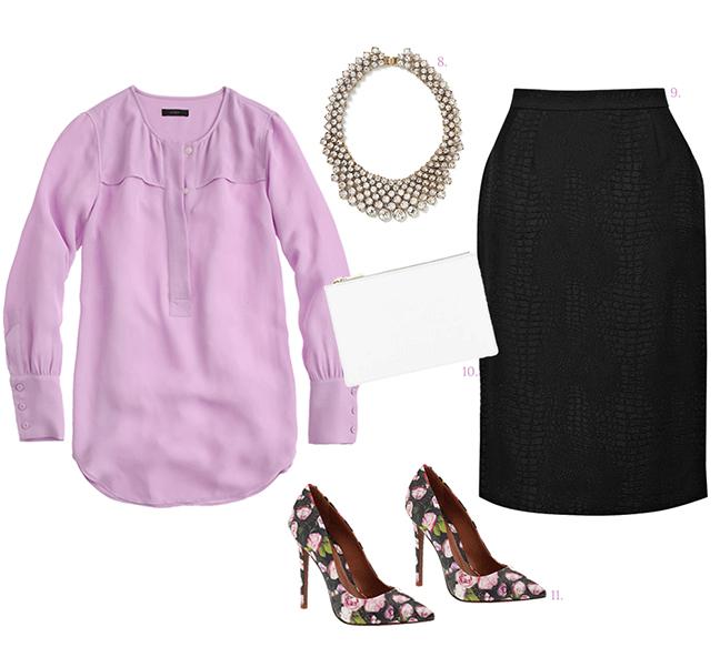 black-pencil-skirt-purple-light-top-blouse-bib-necklace-white-bag-clutch-black-shoe-pumps-howtowear-fashion-style-outfit-spring-summer-dinner-work.jpg