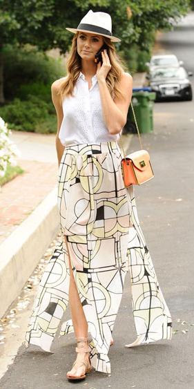 white-maxi-skirt-white-top-blouse-hat-panama-tan-shoe-sandals-orange-bag-print-howtowear-fashion-style-spring-summer-outfit-hairr-lunch.jpg