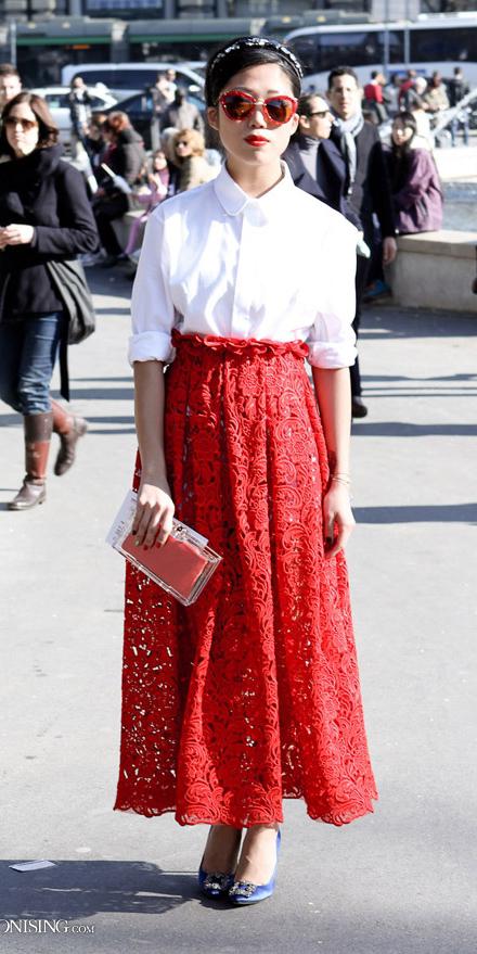 white-top-blouse-brun-bun-lace-red-maxi-skirt-spring-summer-dinner.jpg