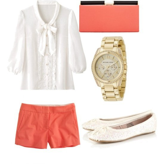 orange-shorts-white-top-blouse-watch-orange-bag-clutch-white-shoe-flats-howtowear-fashion-style-outfit-spring-summer-lunch.jpg