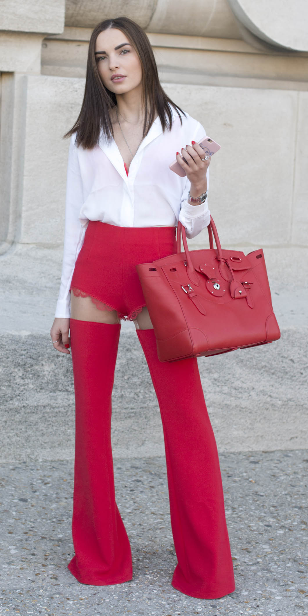 red-wideleg-pants-white-top-blouse-hairr-red-bag-howtowear-cowboy-chaps-valentinesday-outfit-fall-winter-lunch.jpg