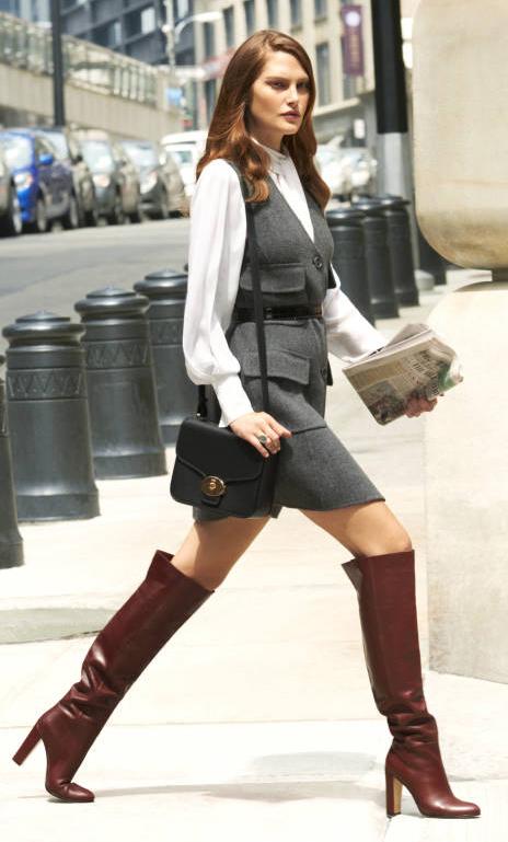 grayd-dress-jumper-white-top-blouse-belt-hairr-black-bag-burgundy-shoe-boots--fall-winter-work.jpg