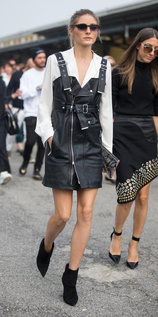 oliviapalermo-black-dress-jumper-layer-white-top-blouse-hairr-sun-black-shoe-booties-fall-winter-dinner.jpg