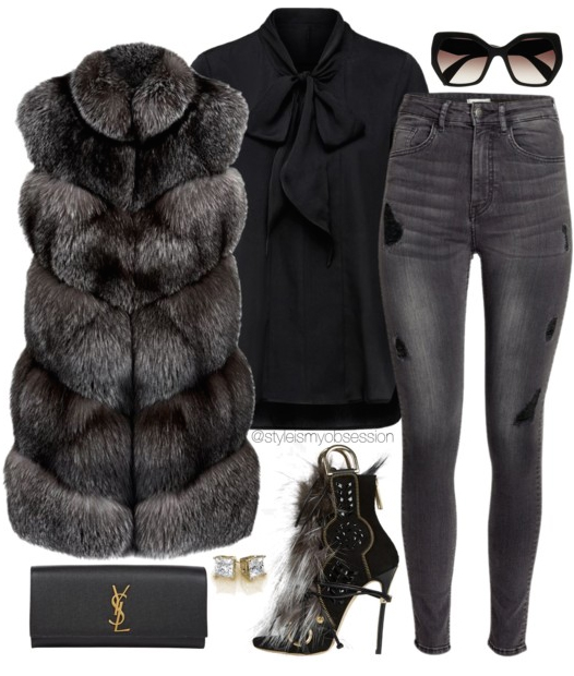 grayd-skinny-jeans-black-top-blouse-black-vest-fur-black-shoe-sandalh-black-bag-clutch-sun-howtowear-fashion-style-outfit-fall-winter-mono-sun-basic-dinner.jpg