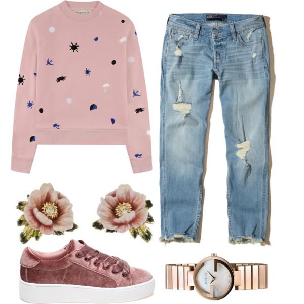 blue-light-boyfriend-jeans-pink-light-sweater-sweatshirt-watch-print-pink-shoe-sneakers-velvet-fall-winter-weekend.jpg