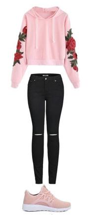 black-skinny-jeans-pink-shoe-sneakers-pink-light-sweater-sweatshirt-floral-spring-summer-weekend.jpg