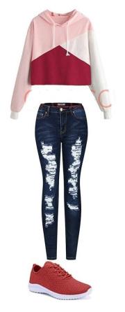 blue-navy-skinny-jeans-pink-light-sweater-sweatshirt-red-shoe-sneakers-spring-summer-weekend.jpg