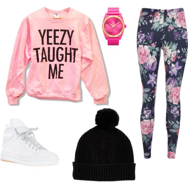pink-light-leggings-floral-print-pink-light-sweater-sweatshirt-graphic-beanie-watch-white-shoe-sneakers-fall-winter-weekend.jpg