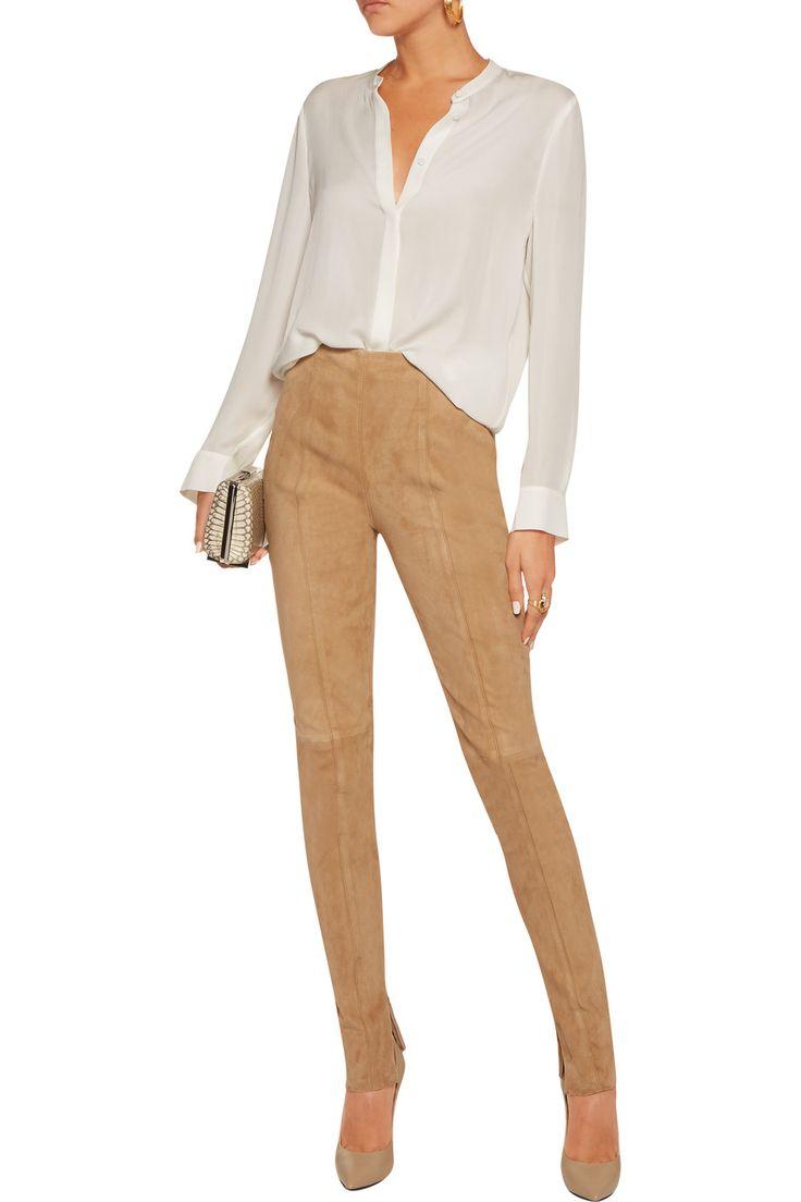 tan-leggings-white-top-blouse-suede-tan-shoe-pumps-fall-winter-dinner.jpg