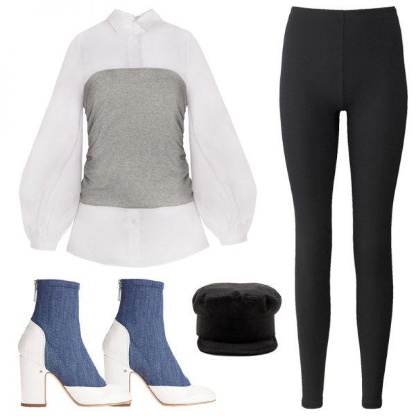 black-leggings-white-top-blouse-hat-newsboy-blue-shoe-booties-fall-winter-lunch.jpg