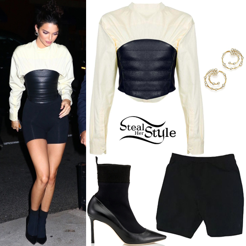 black-shorts-cycling-bike-white-sweater-sweatshirt-corset-hoops-black-shoe-pumps-kendalljenner-brun-bun-spring-summer-dinner.jpg