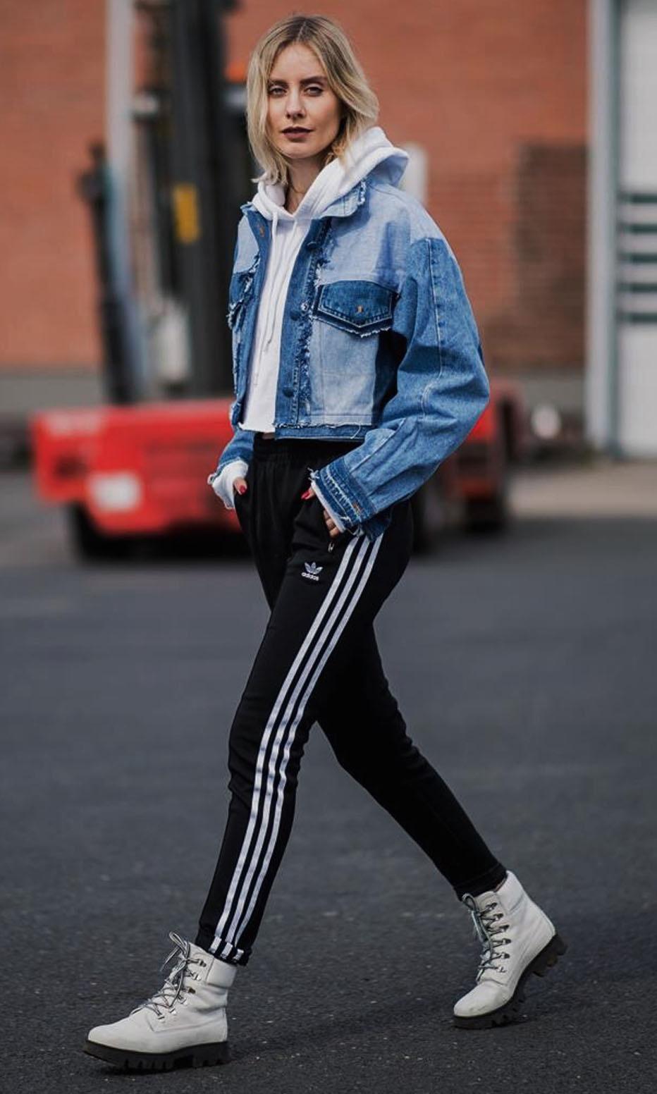 black-joggers-pants-white-sweater-sweatshirt-hoodie-blue-med-jacket-jean-blonde-white-shoe-booties-trackpants-fall-winter-weekend.jpg