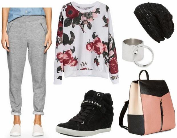 grayl-joggers-pants-white-sweater-sweatshirt-black-shoe-sneakers-pink-bag-pack-floral-wear-style-fashion-spring-summer-floral-wedge-beanie-weekend.jpg