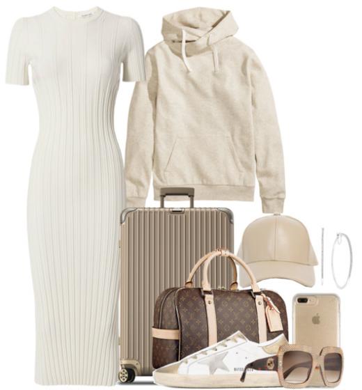 white-dress-sweater-bodycon-white-shoe-sneakers-hat-cap-hoops-brown-bag-sun-white-sweater-sweatshirt-hoodie-spring-weekend.jpg