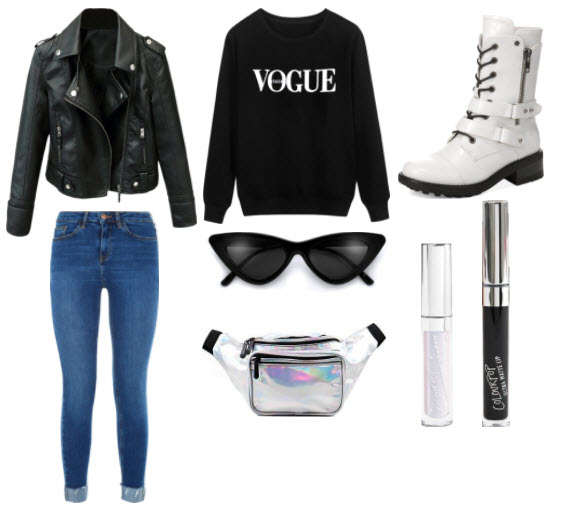 blue-med-skinny-jeans-black-sweater-sweatshirt-white-shoe-booties-sun-black-jacket-moto-gray-bag-fannypack-metallic-concert-fall-winter-lunch.jpg