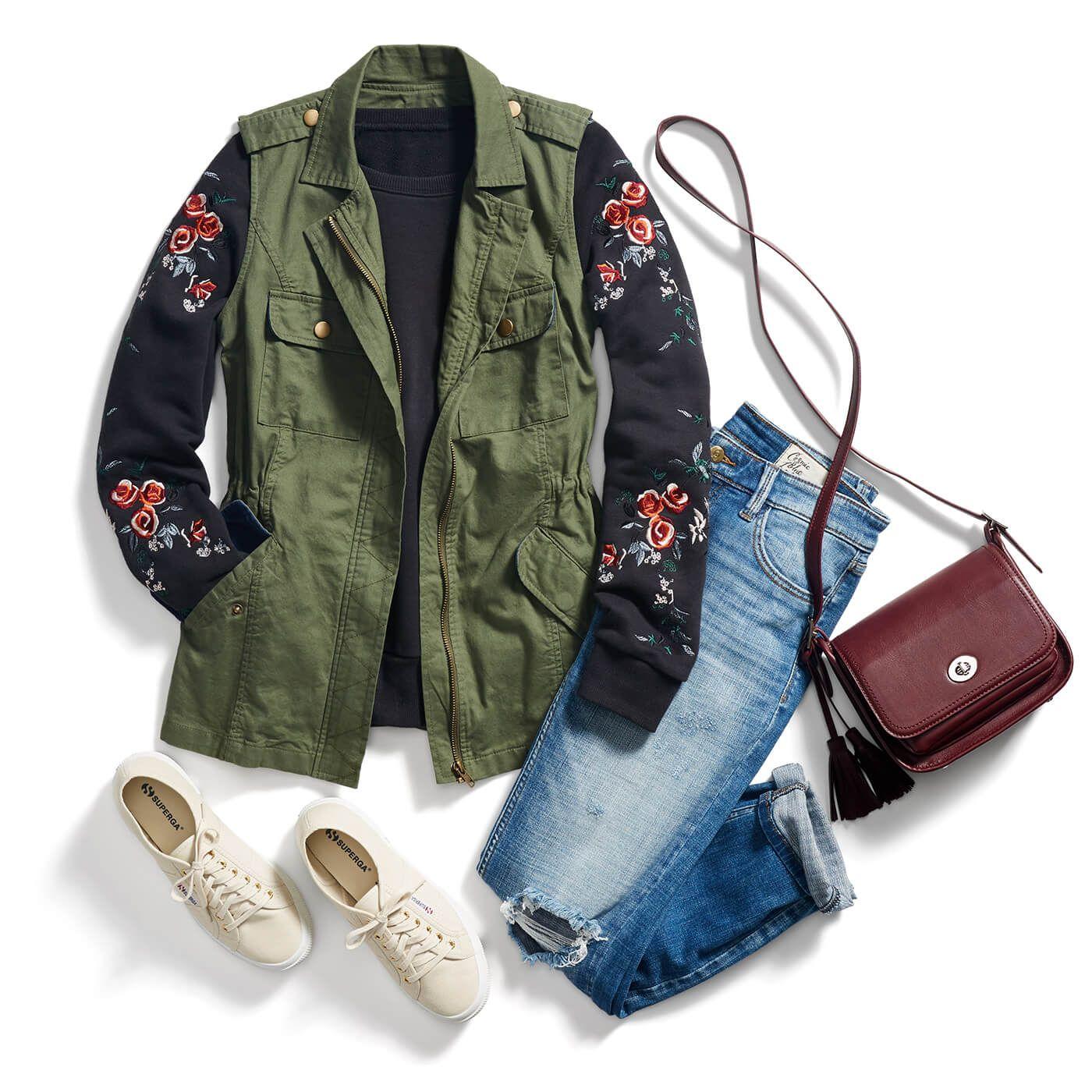 black-sweater-sweatshirt-blue-med-skinny-jeans-green-olive-vest-utility-burgundy-bag-white-shoe-sneakers-fall-winter-weekend.jpg