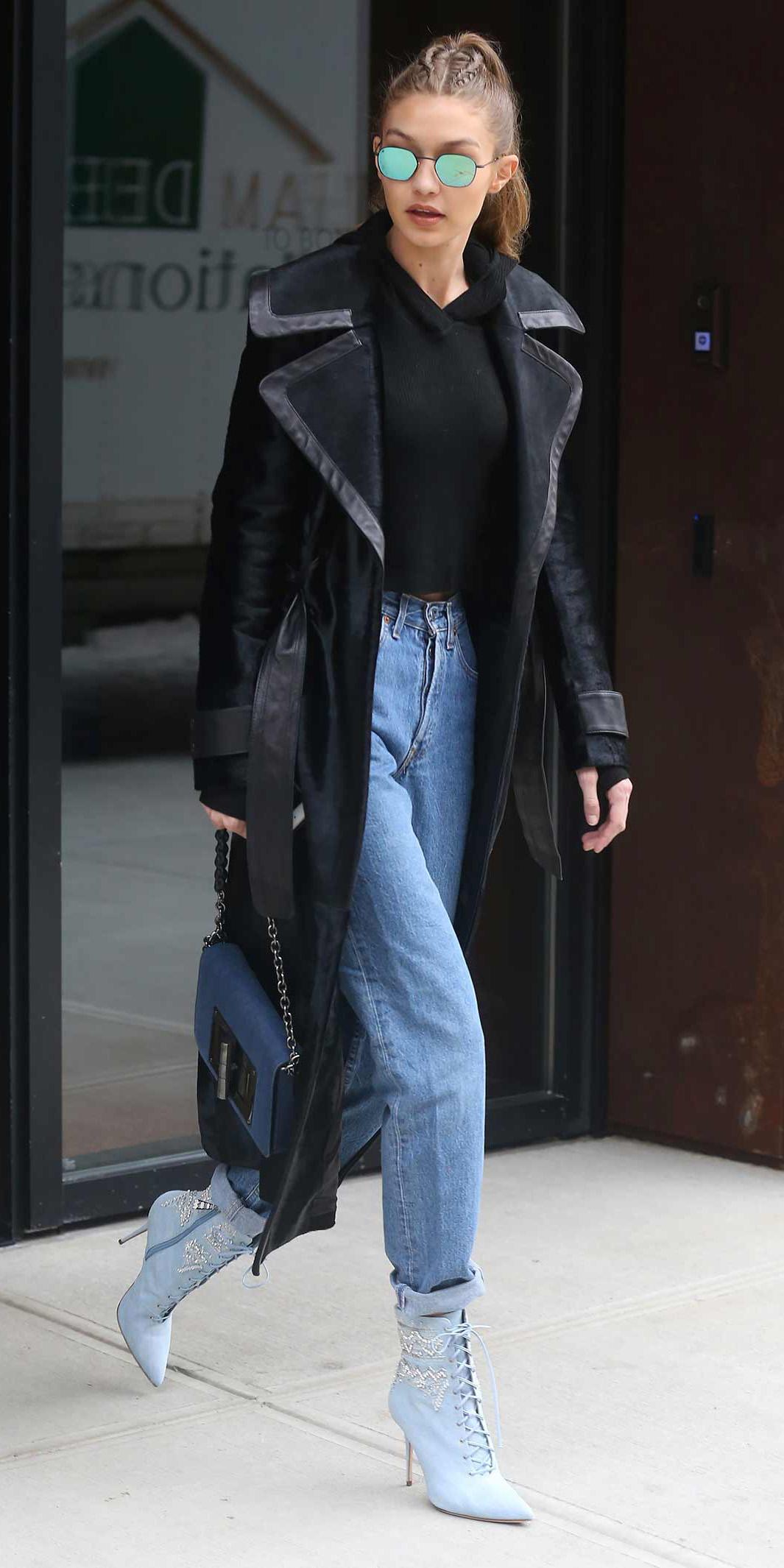 blue-light-boyfriend-jeans-blue-shoe-booties-sun-pony-blue-bag-black-sweater-sweatshirt-gigihadid-trench-black-jacket-coat-fall-winter-blonde-lunch.jpg