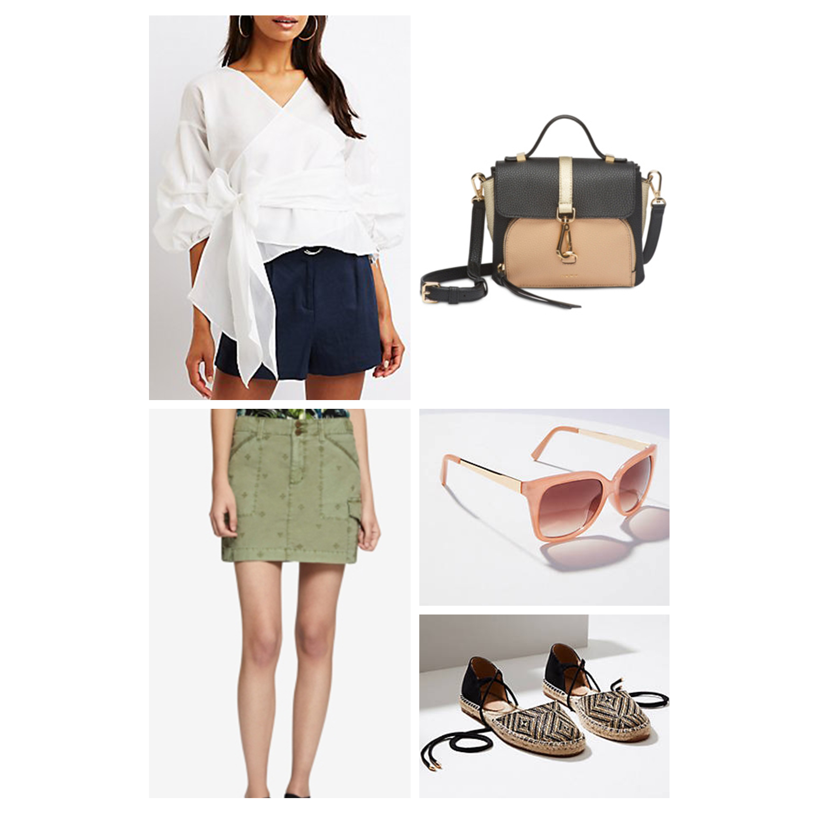 weekend-outfit-olive-green-mini-skirt-white-blouse-pink-sunglasses-.jpg