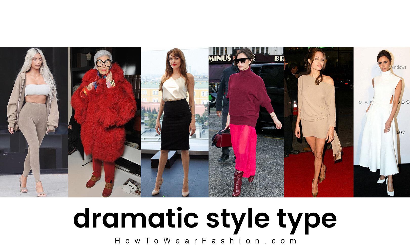 Dramatic Style Type Howtowear Fashion