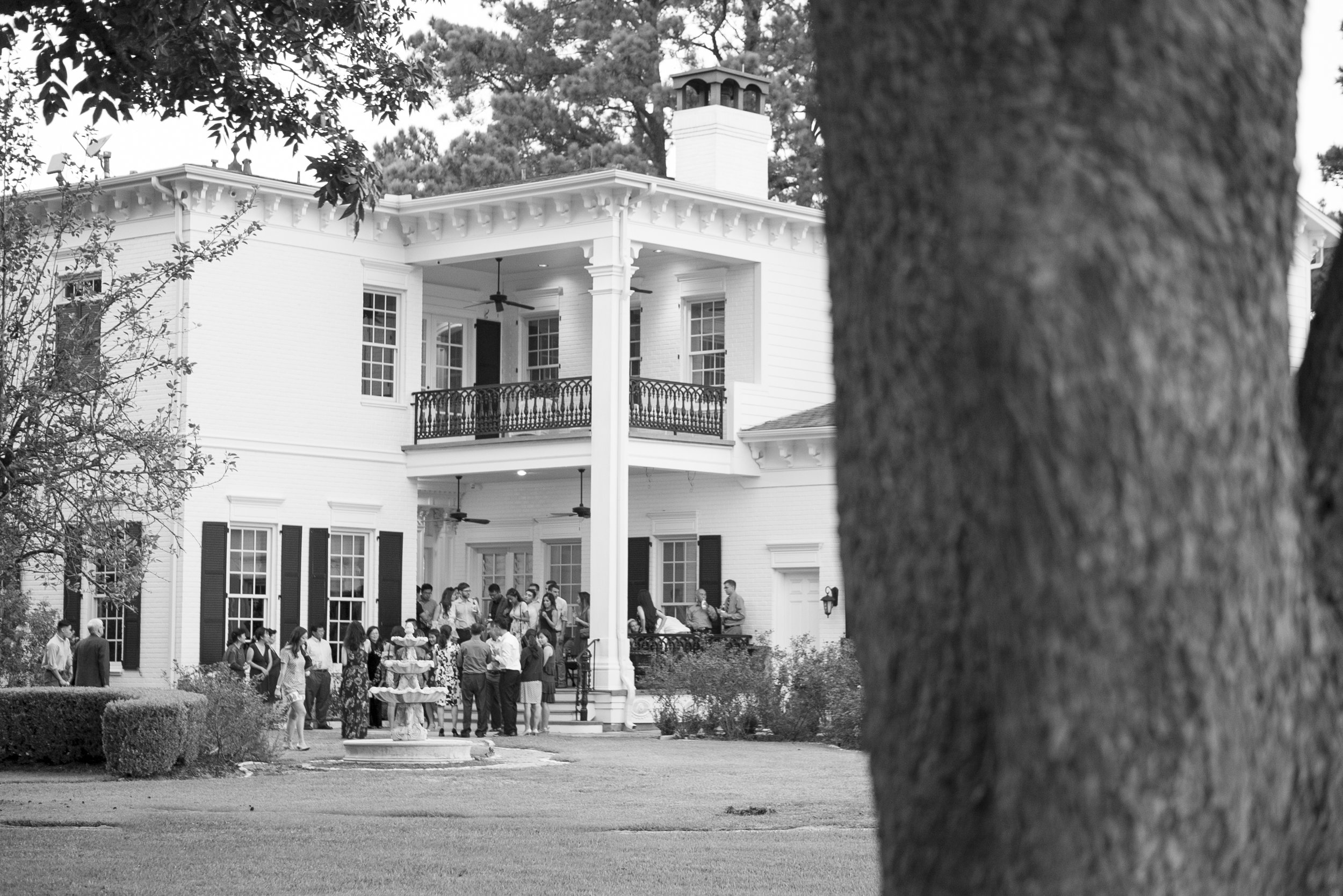 Ceremony rehearsal on the back lawn of Sandlewood Manor.