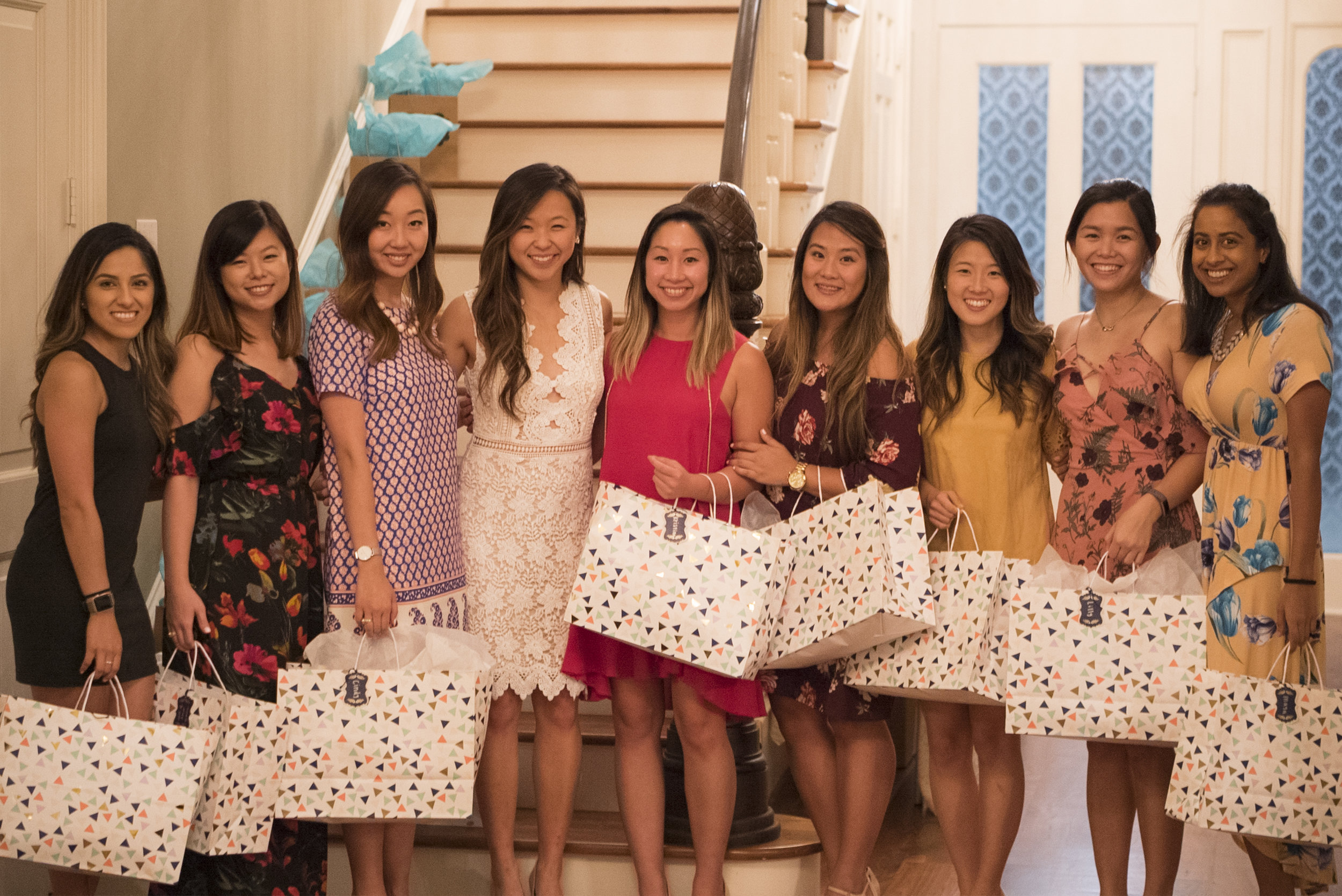 And the bridesmaids.