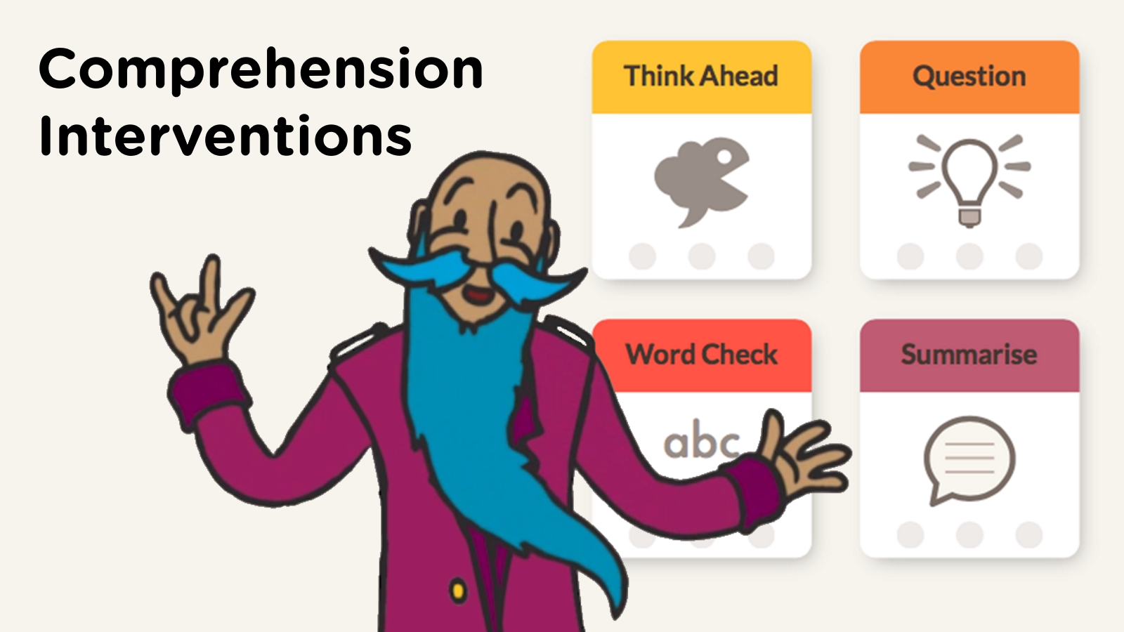 Click the image above to find out more about the  Comprehension intervention.