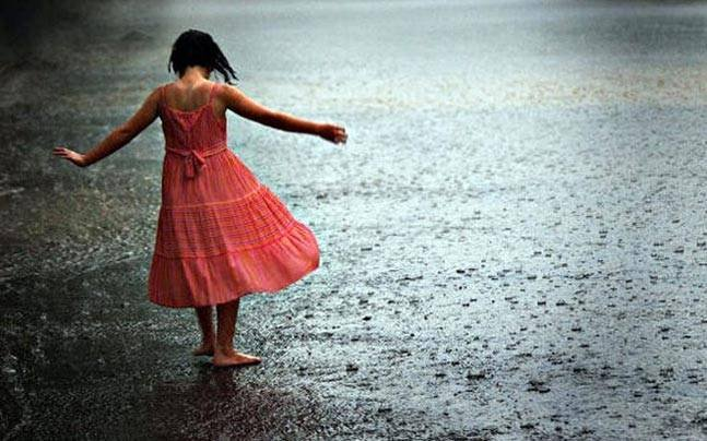 She gave the rain names dancing young silly puddle games red dress swirl lil' lonely girl rhythmless tune losing  monsoon  #DimpleVerse
