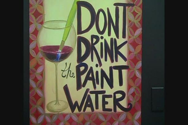 Paints drip brushing a trip fantastic muscles elastic then spastic laughter ecstatic drank the paint water feeling fantastic #TastyPoem