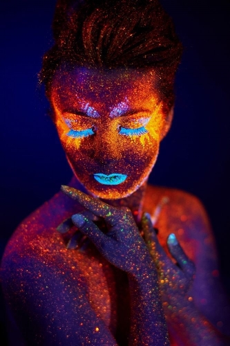 neon colors show energy pulses in the afterglow dancing lights in the dark versed electric ecstatic sparks #WrittenRiver 1082 Photo by Pavel Reband