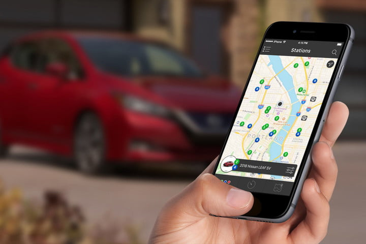Maps of EV charging stations can be viewed easily on mobile apps.  Photo from Chargeway