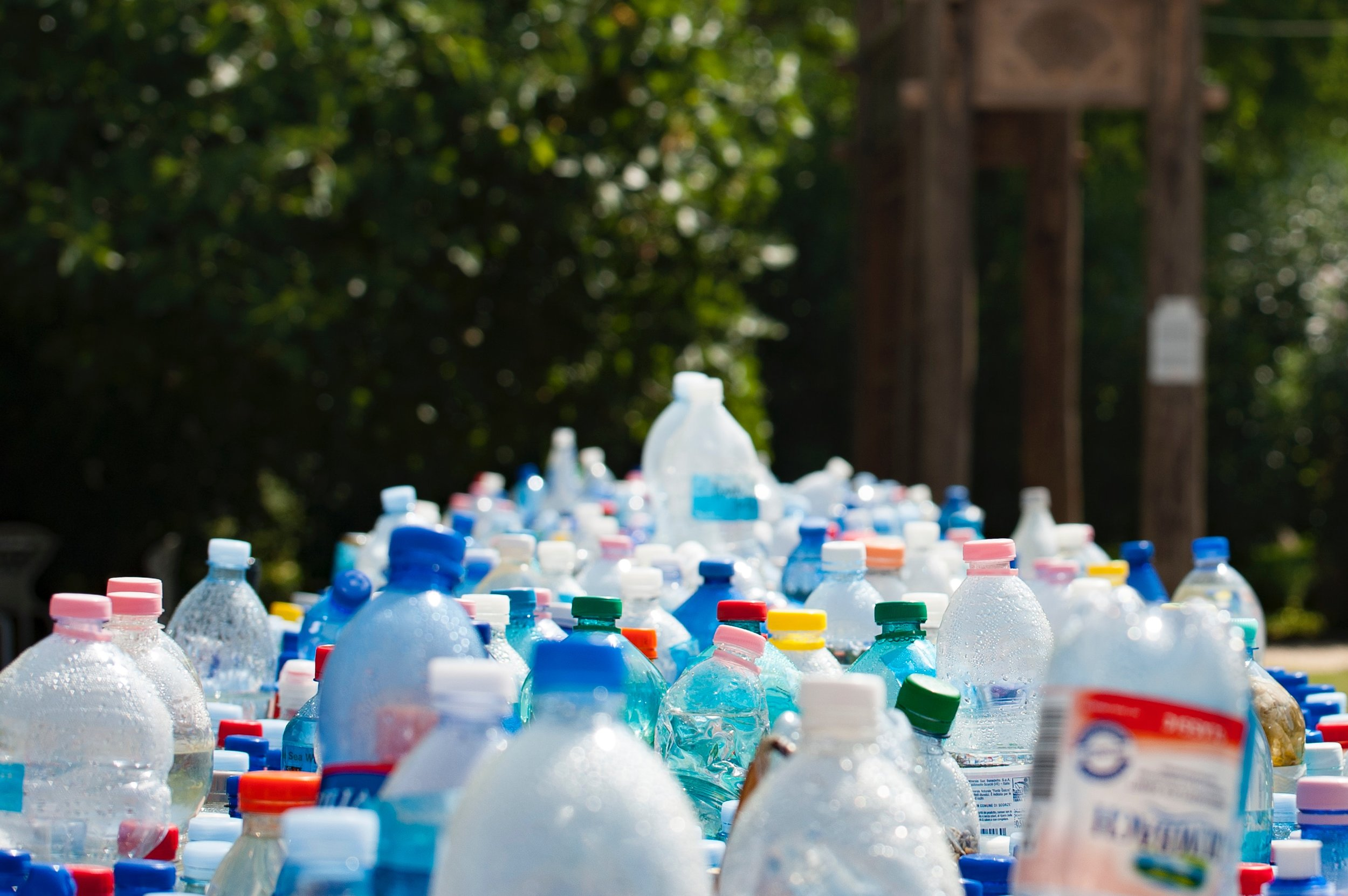 Reducing waste can be tackled in many ways. Eliminating bottled drinks and composting are two major strategies.