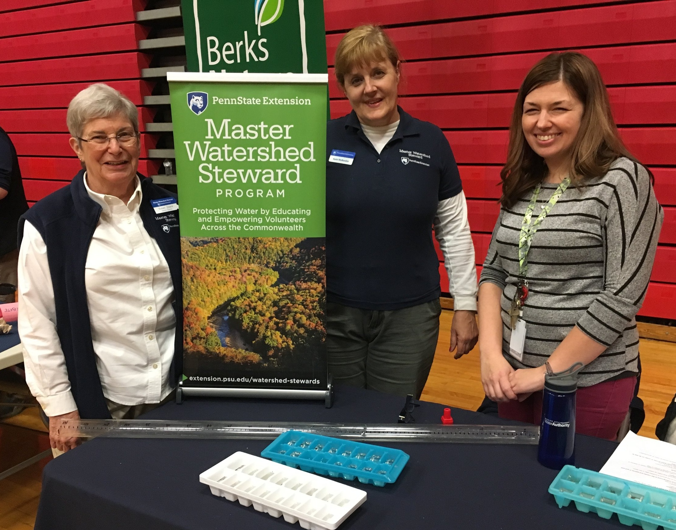 Master Watershed Steward, Susan Drake, and Master Watershed Coordinator, Karin Wulkowicz, shared their creek critters with RHS students and biology teacher, Jessica Brown.