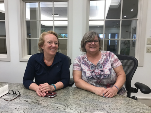 Joyce Ferris (left) Founder and Managing Partner of Blue Hill Partners, and Karen Naughton (right), Blue Hill Partners' Business Manager.