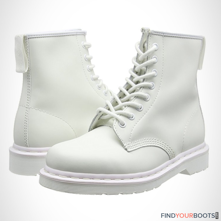 white combat boots for men - all white boots