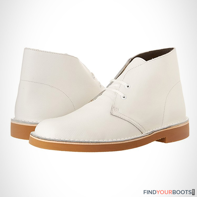 mens white ankle boots - white boots for men