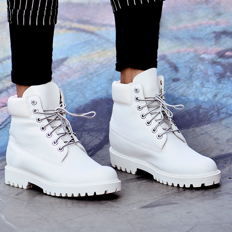 white mens boots - all white boots for men