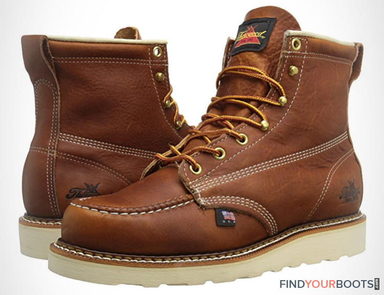 Best wedge sole boots - mens work boot