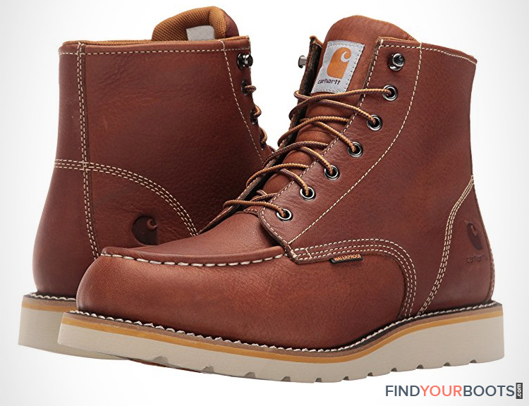 Steel toe wedge boots - wedge soled mens boots