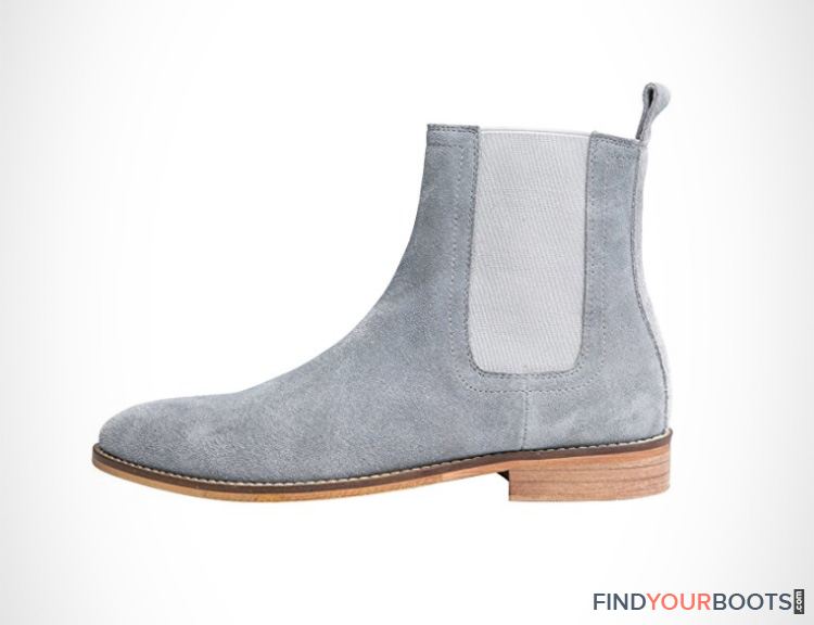 light grey suede chelsea boots mens