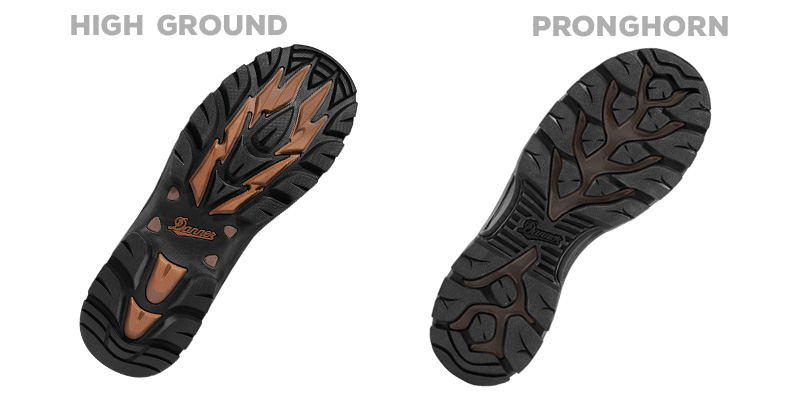 High Ground Talon outsoles vs Pronghorn outsoles